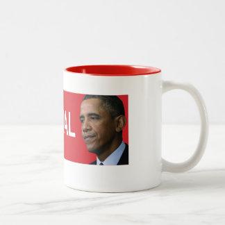 オバマのスキャンダルのマグ ツートーンマグカップ