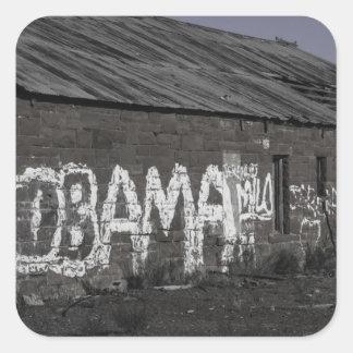 オバマのステッカー スクエアシール