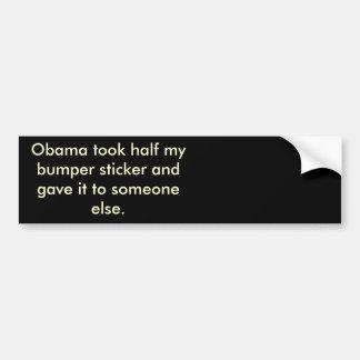 オバマのストールの私のbumberのステッカー半分の バンパーステッカー