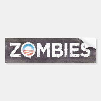 オバマのゾンビのバンパーステッカー バンパーステッカー