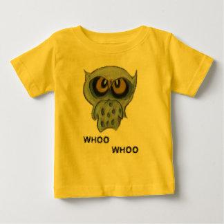オバマのフクロウのベビーのワイシャツ ベビーTシャツ