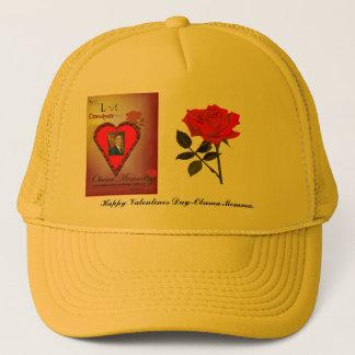 オバマのママの幸せなバレンタインデーの帽子 キャップ