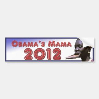 オバマのママ2012年 バンパーステッカー