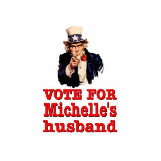 オバマのミシェールの夫のための政治デザインの投票 写真彫刻(台付き)