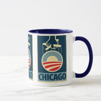 オバマのロゴ-シカゴ: OHPのマグ マグカップ