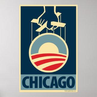 オバマのロゴ-シカゴ: OHPポスター ポスター