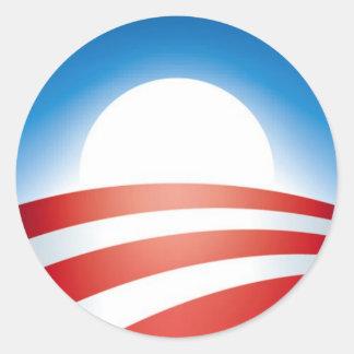 オバマのロゴ ラウンドシール