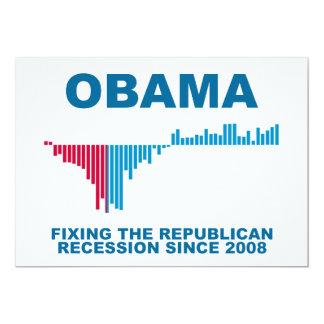 オバマの仕事成長グラフ カード