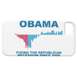 オバマの仕事成長グラフ iPhone SE/5/5s ケース
