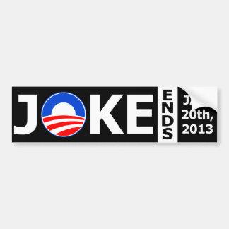 オバマの冗談は2013年終わります バンパーステッカー