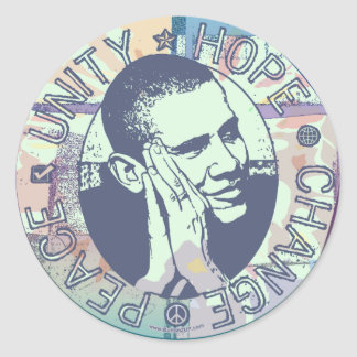オバマの単一性、希望、変更および平和2012年 ラウンドシール