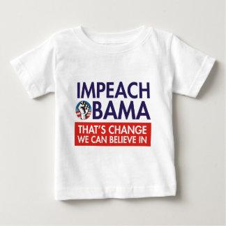 オバマの変更を弾劾して下さい ベビーTシャツ