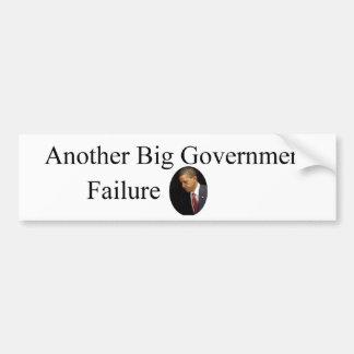 オバマの大きい政府の失敗 バンパーステッカー