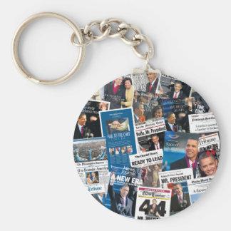 オバマの就任式新聞Keychain キーホルダー