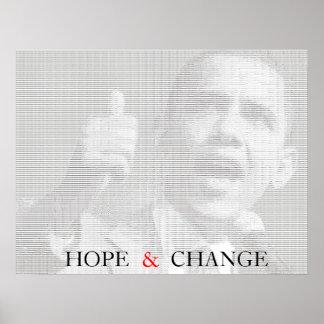 オバマの希望及び変更Asciiの芸術ポスター ポスター