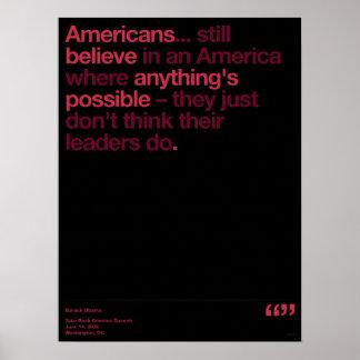 オバマの引用文 ポスター