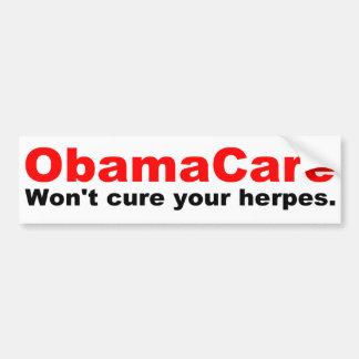 オバマの心配はあなたのヘルペスを治しません バンパーステッカー