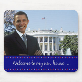 オバマの新しい家のマウスパッド マウスパッド