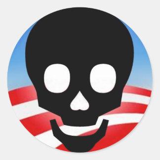 オバマの有毒なステッカー ラウンドシール
