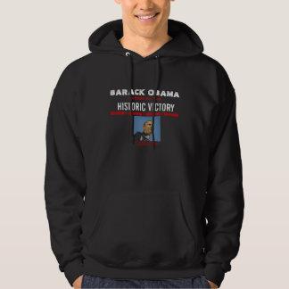 オバマの歴史的な勝利の黒の汗 パーカ