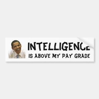 オバマの知性があるなバンパーステッカー バンパーステッカー