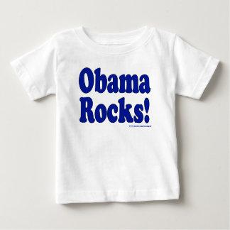 オバマの石 ベビーTシャツ