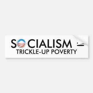 オバマの社会主義= TRICKLE-UPの窮乏 バンパーステッカー