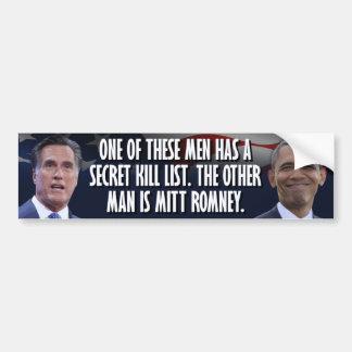 オバマの秘密の殺害のリスト バンパーステッカー