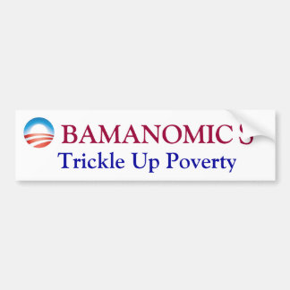 オバマの窮乏の上の細流 バンパーステッカー