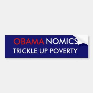 オバマの窮乏、NOMICSの上の細流 バンパーステッカー