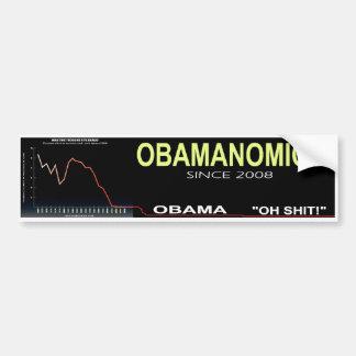 オバマの経済のバンパーステッカー バンパーステッカー