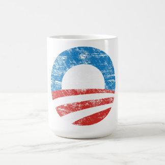 オバマの衰退したロゴ コーヒーマグカップ