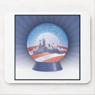 オバマの雪の地球 マウスパッド