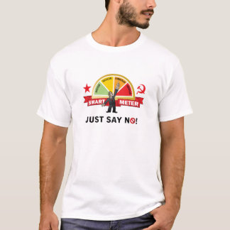 オバマの頭が切れるなメートルは共産主義です Tシャツ