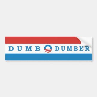 オバマの風刺的なばかおよびより物の言えないバンパーステッカー バンパーステッカー