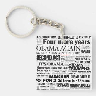 オバマの2012年の新聞の見出語はKeychain 2味方しました キーホルダー