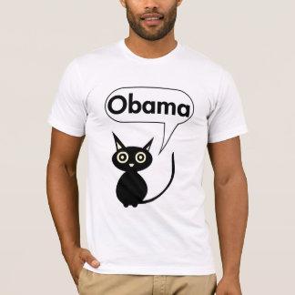 オバマのTシャツのための黒猫 Tシャツ