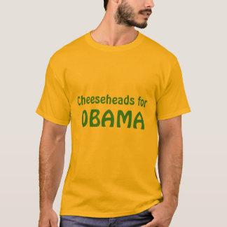 オバマのTシャツのためのCheeseheads Tシャツ
