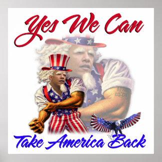オバマのYes叔父さん私達はアメリカを取り戻してもいいです ポスター