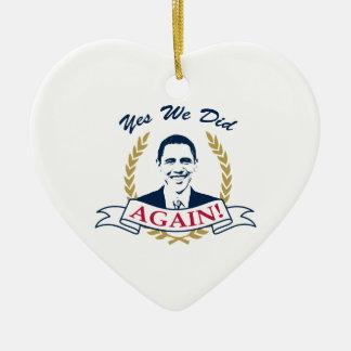 オバマのYes私達はそれをV2色またやりました セラミックオーナメント