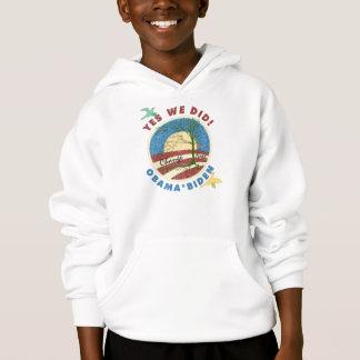オバマのYes私達はヴィンテージの子供のフード付きのスエットシャツをしました