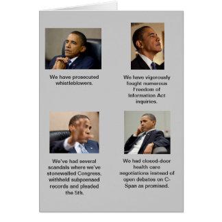 オバマはとても透明です! カード