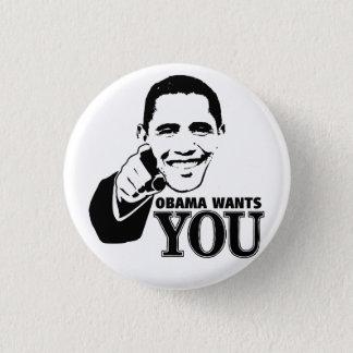 オバマはほしいと思います 3.2CM 丸型バッジ