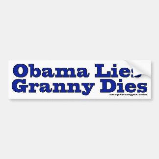 オバマはダイスおばあさんのあります バンパーステッカー