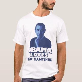 オバマはニューハンプシャーを愛します Tシャツ