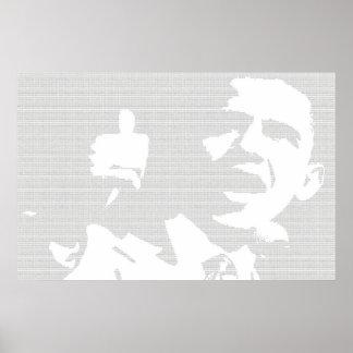 オバマはポスターの二進スタイルを作りました ポスター