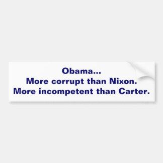 オバマは不正、無能です バンパーステッカー