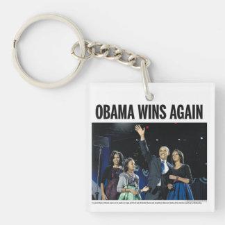 オバマは再度勝ちます: オバマの2012年の新聞Keychain キーホルダー