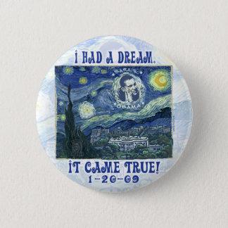 オバマは私の夢本当ボタンを来ました 5.7CM 丸型バッジ