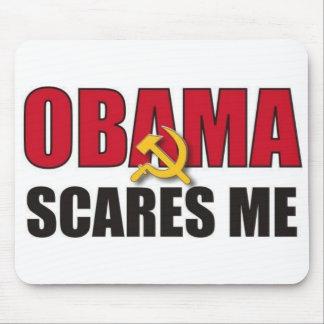 オバマは私をおびえさせます マウスパッド